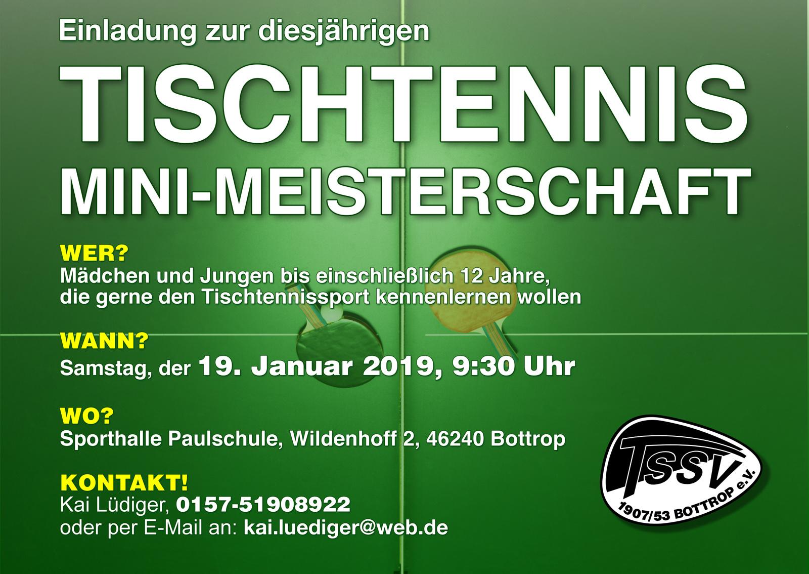 Tischtennis Mini-Meisterschaft 2019